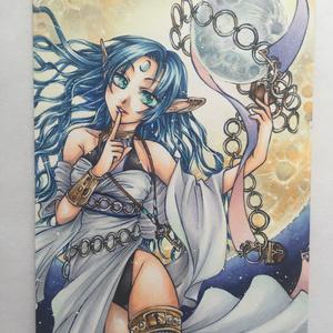 【オリジナル・コピック原画】蒼月の精霊