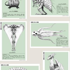 『図解U.M.A.異説』ポストカード6種セット