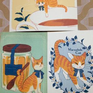 マーマレードキャットポストカード3枚セット