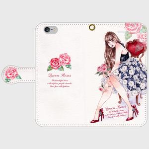 《受注生産》手帳型★iPhoneケース【Qeenrose】
