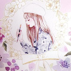 花柄ポーチ