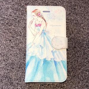 《受注生産》手帳型★iPhoneケース【アクアマリン】