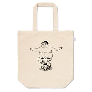 「たぷの里と一輪車の少女」トートバッグ