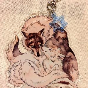 【Winter ver.再販】ロボとブランカのなかよしキーホルダー