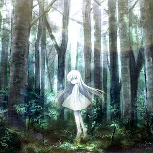 【アートパネル(サイズバリエーション有)】銀色は樹海にたゆたう