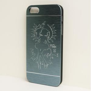 iPhone5/5sメタルケース青 フランドール