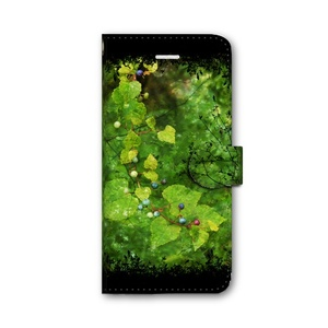 Glamorous Green 手帳型iPhoneケース