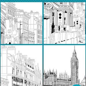 マンガ背景素材セット(イギリス ロンドン)Aset