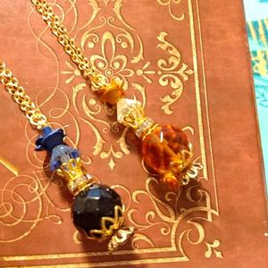 【Ib】バラの香水瓶ネックレス【イメージアクセサリー】