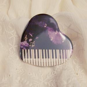 夜想曲缶バッジ - ピアノハート缶バッジ