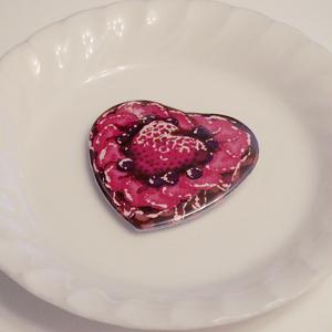 心臓タルト缶バッジ-ハート型