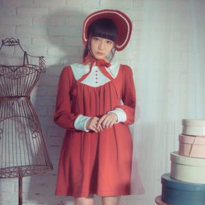 文化人形スウェットワンピース-紅-Winter