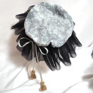 お月様のナイトキャップベレー-ブラック