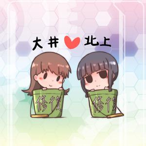 【艦これ】大井x北上 缶バッジ - 44mm