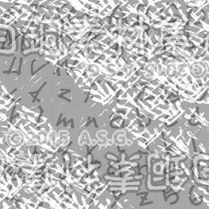 白銅素材集 06 『文字とか模様とか』