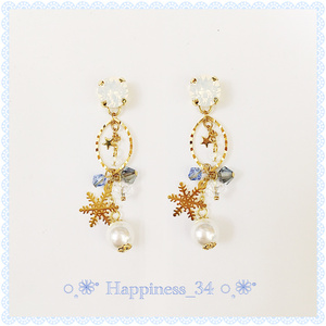 ~Snow jewel ring~ピアス&イヤリング