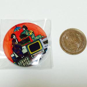 レトロ家電缶バッチ