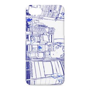 水色照明 iPhone 7  ケース 紺色.ver