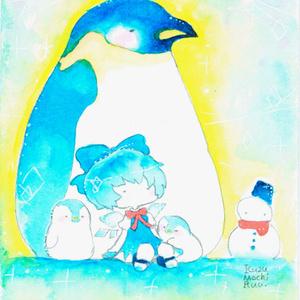 チルノちゃんとペンギンTシャツ