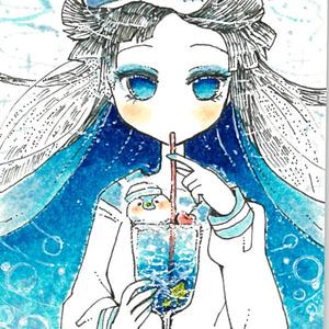 缶バッジ☆海野クリームソーダ