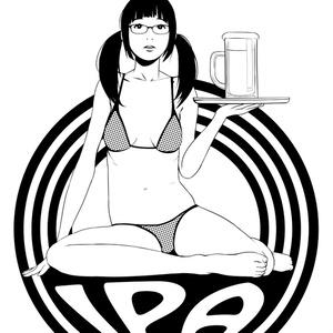 Girl & IPA Tee メガネver. White
