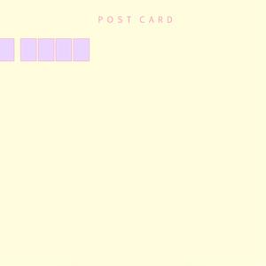 「bunny」ポストカード