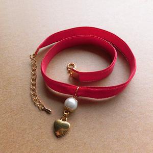 ベルベットリボンのチョーカー(red)