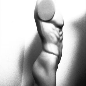 男性の筋肉・影の資料01 マネキンで360度155枚