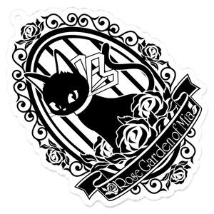 黒猫MIAアクリルキーホルダー