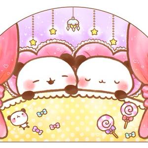 ゆるぱんだルーム おやすみ♡ポストカード