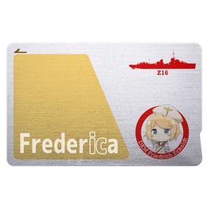 [戦艦少女R]Z16 Frederica ICカードステッカー メタル調