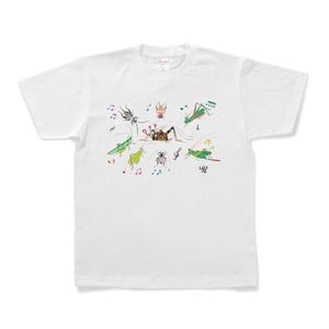 キリギリスたちの音楽会とカマドウマのTシャツ