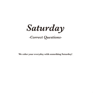 Saturday -Correct Questions-