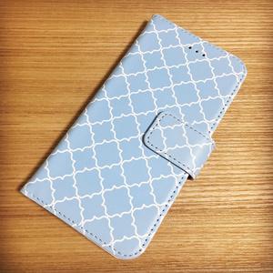 手帳型iPhoneケース スライム柄(みずいろ)