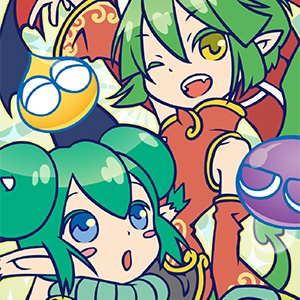 ぷよぷよ緑の新フェイスタオル  ※サタン・ドラコ・リデル / 568