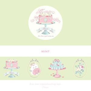 """マスキングテープ[Marie Nyantoinette """"Rose""""]ミント"""