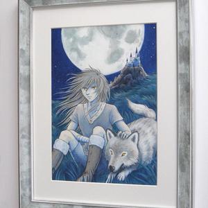 額装原画『月夜の友』