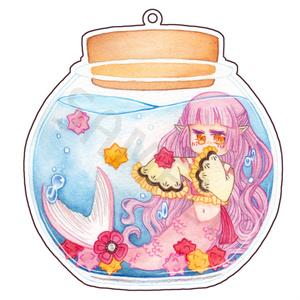 【アクリルキーホルダー】糖花人魚-桜-