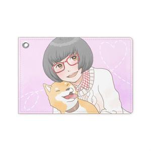 パスケース【柴犬と女の子】
