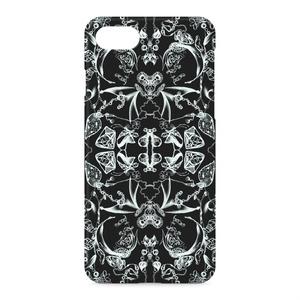 黒の抽象画iPhoneケース