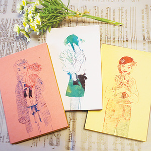ポルカレイドの春色メモ帳セット