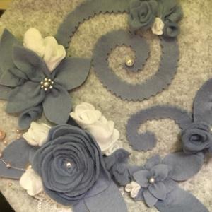【GW手芸部】青灰花のベレー帽