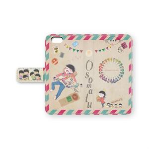 ちび松手帳型iPhoneケース