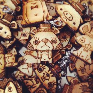 動物さんたちの木製チャーム