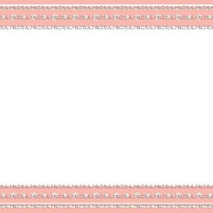 ♪*・WEB素材イラスト画像・*【透過デジコン】サーモンピンクpink小花flowerフラワー【上下】