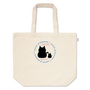 カラーセラピー 色彩療法 ホリスティック 光 音 周波数 夢の森 cat ねこ 猫 family 家族 親子 トートバッグ