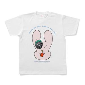 カラーセラピー 色彩療法 ホリスティック 光 音 周波数 夢の森 ラビット うさぎ Tシャツ 半袖