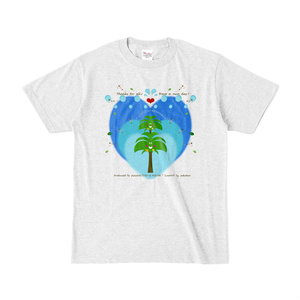 カラーセラピー 色彩療法 ホリスティック 光 音 周波数 夢の森 coconut ココナッツ ヤシの木 tree 樹木 Tシャツ 半袖