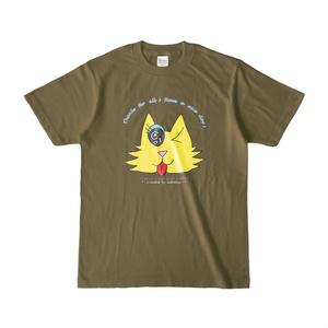カラーセラピー 色彩療法 ホリスティック 光 音 周波数 夢の森 cat ネコ 猫 Tシャツ 半袖
