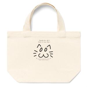 カラーセラピー 色彩療法 ホリスティック 光 音 周波数 夢の森 イラスト 手書き ロゴ お間抜け顔 フツー cat ねこ 猫 トートバッグ
